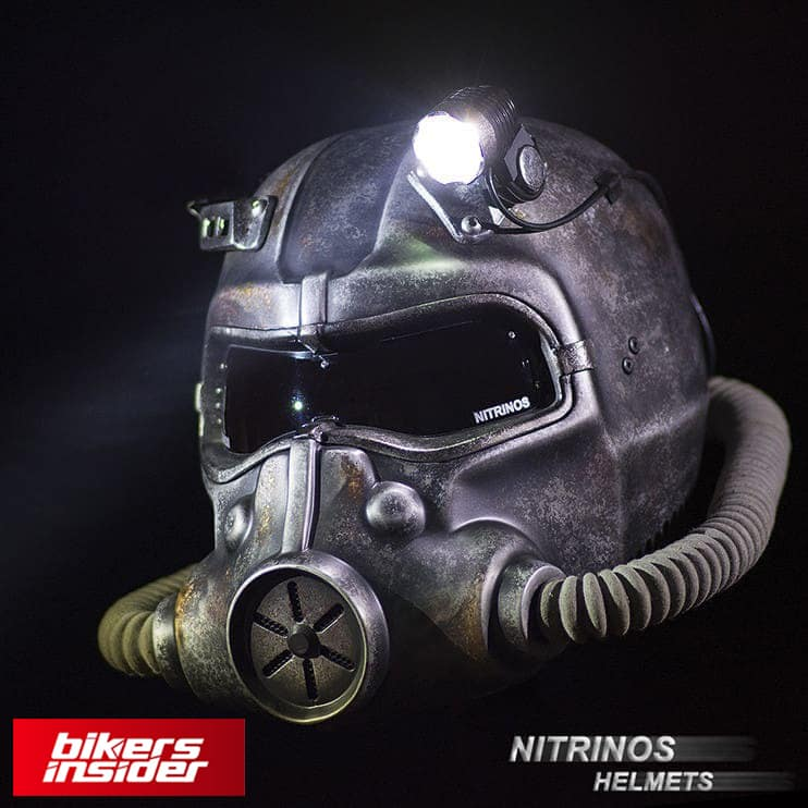 Nitrinos NS-5 is a Fallout-themed motorcycle helmet.