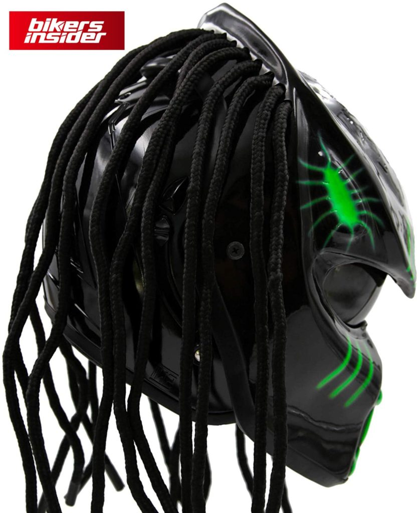 Predator motorcycle helmet for motorbikes in greed Theme DOT ece-min
