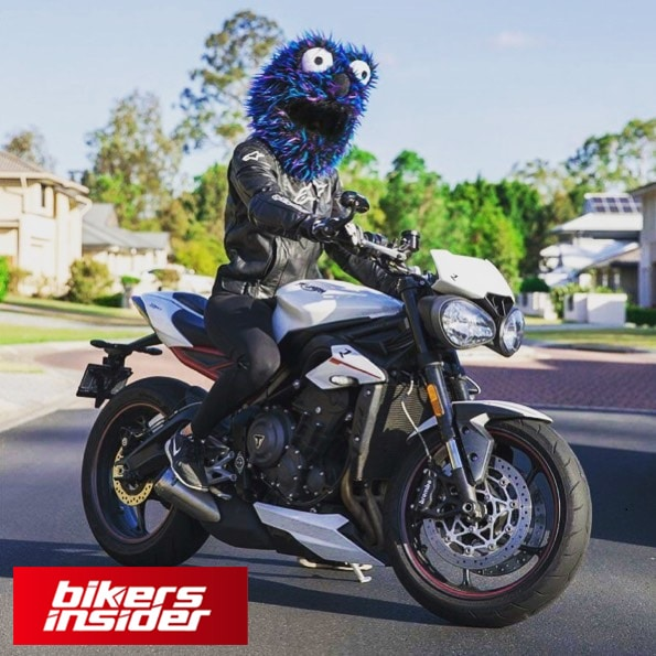 Cookie Monster Helmet Cover is extremely cool and cute.