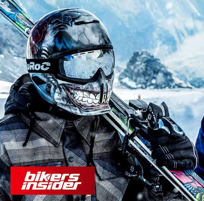 This Ruroc helmet can be used the same on the snowboard and snowmobile, as on the motorcycle.