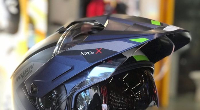 Nolan N70 2x helmet off-road