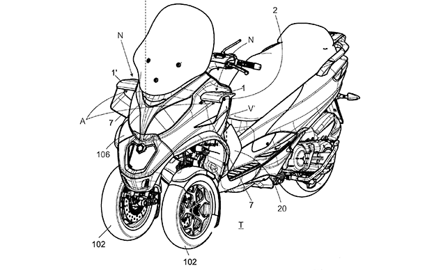 Piaggio Files A Patent For An Active Aerodynamic System!