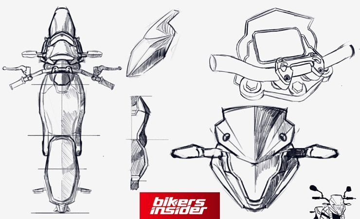 Voltz Motors Electric Motorcycle Sketch