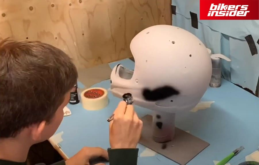 Administer The Paint To The Helmet
