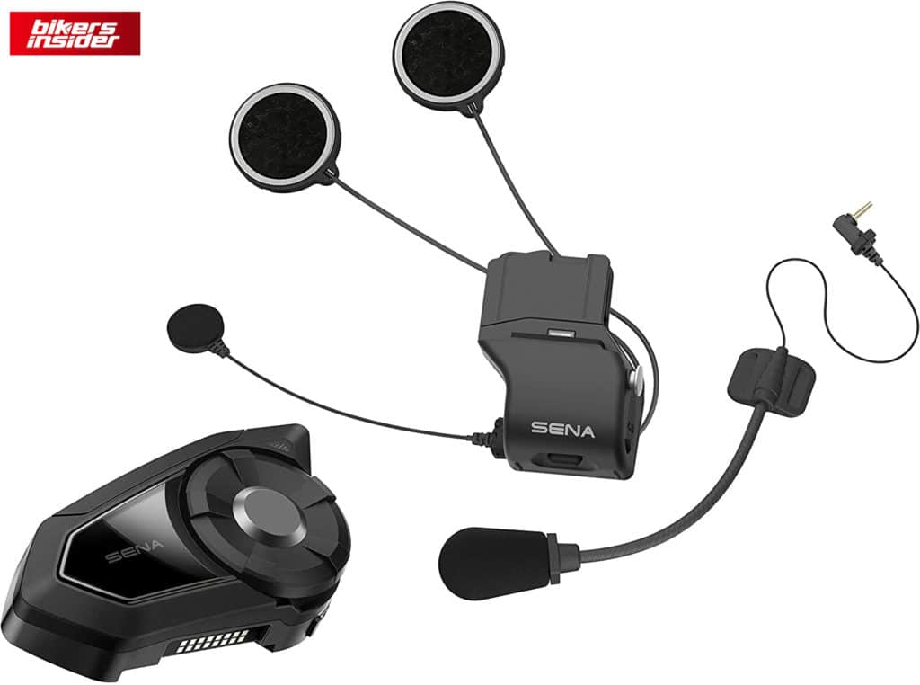 Here is all the stuff you get with the Sena 30K comm system!