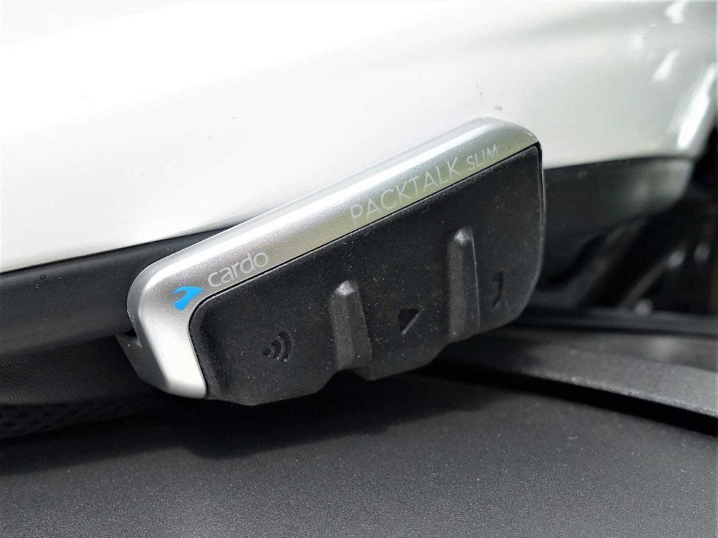 Cardo Packtalk SLIM is cetainly one of the best overall Bluetooth motorcycle headsets for 2021!