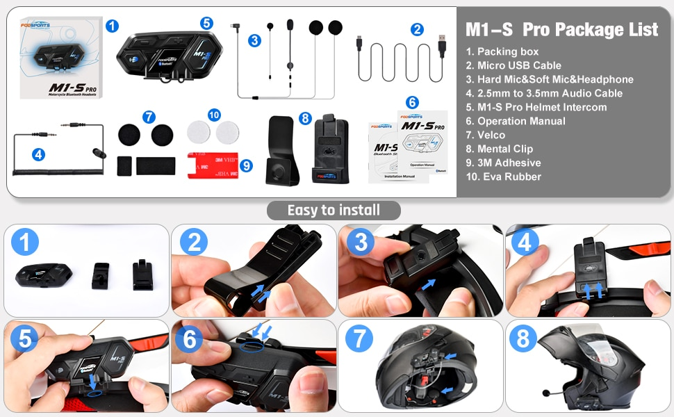 Here are the installation instructions for the Fodsports M1S Pro.