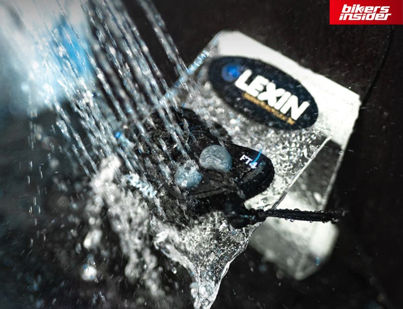 Lexin LX-FT4 Bluetooth headset features a IP67 waterproof certification.