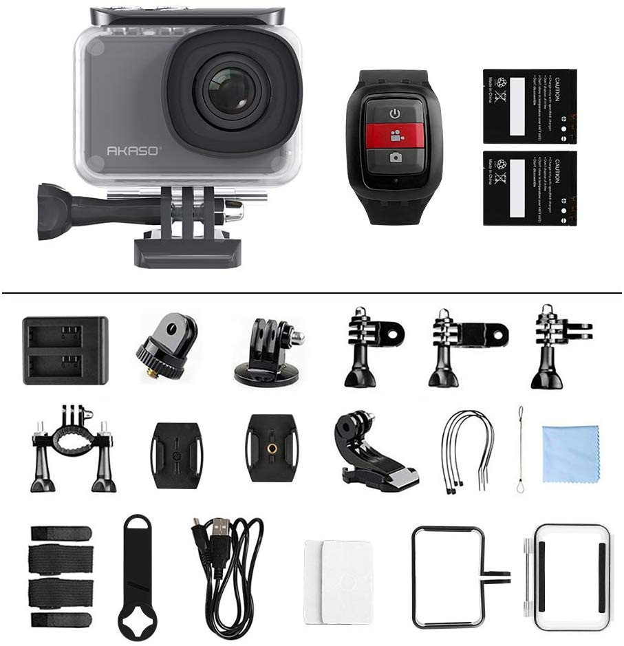 Akaso V50 Pro comes along with tons of accessories!