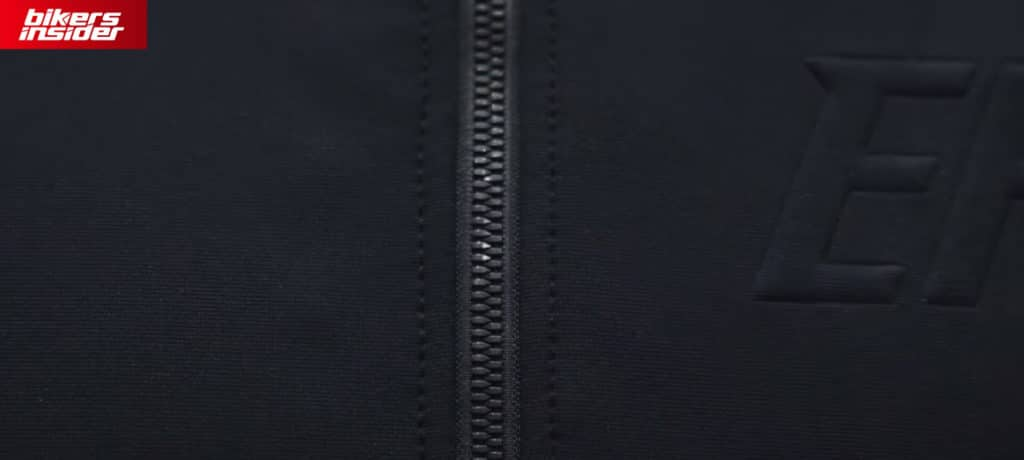 The front zips on the Predator jacket feature a bullet-like finish.