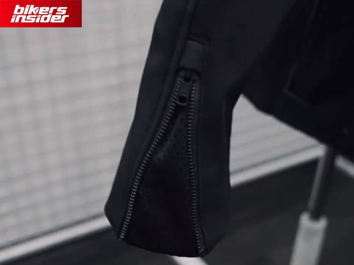 The zipper on the sleeve of the Predator jacket provides additional airflow.