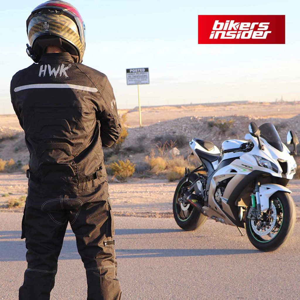 HHR textile motorcycle jacket has a fairly nice airflow.