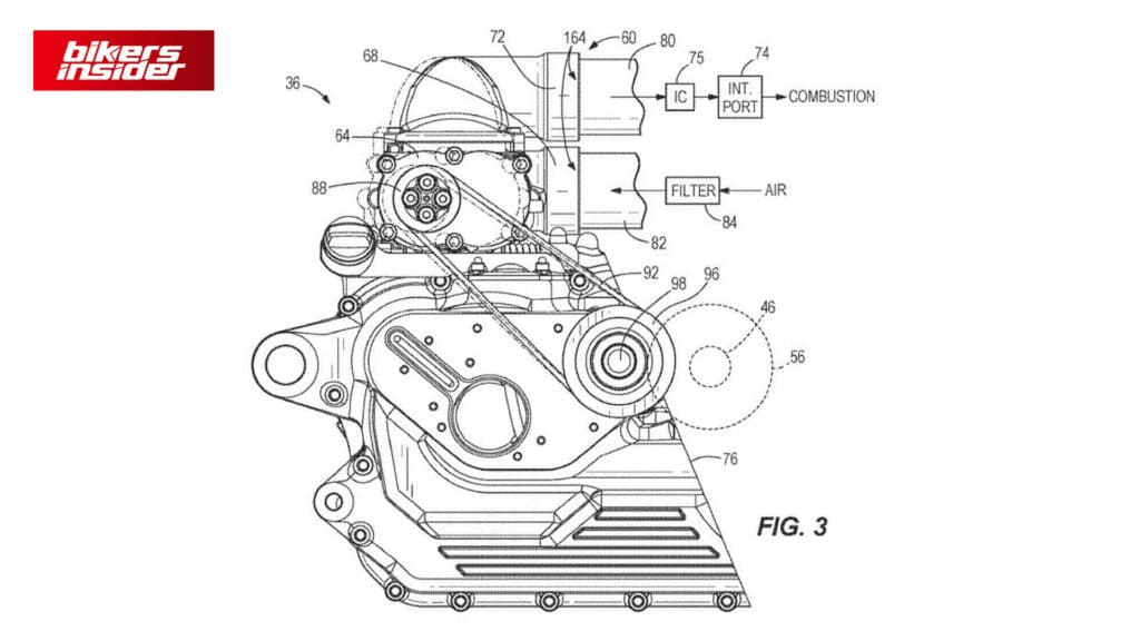 3nd Patent of Harley-Davidson Supercharged Engine