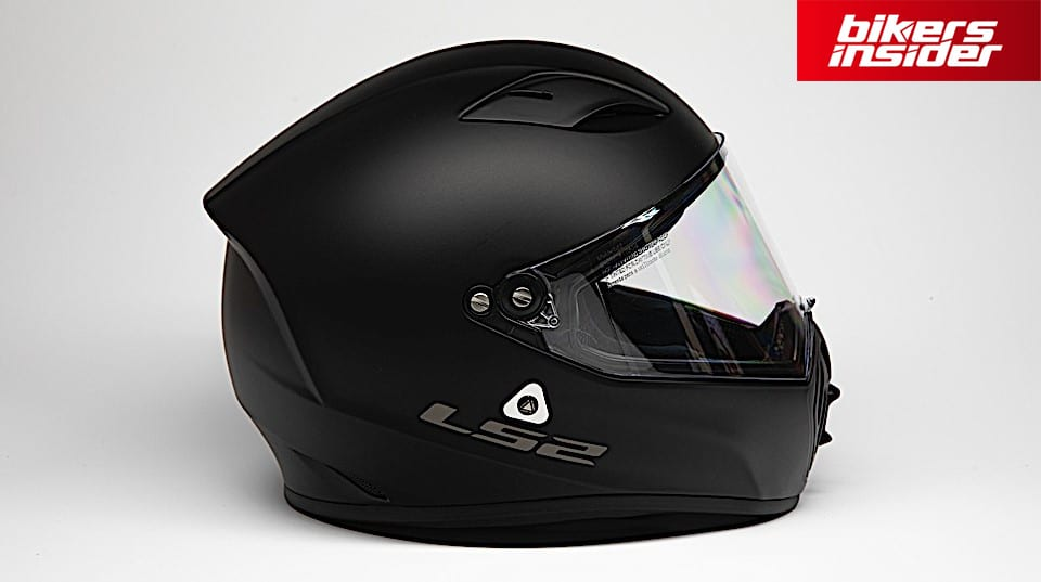 The aggressive-looking shell of the LS2 Street Fighter helmet.