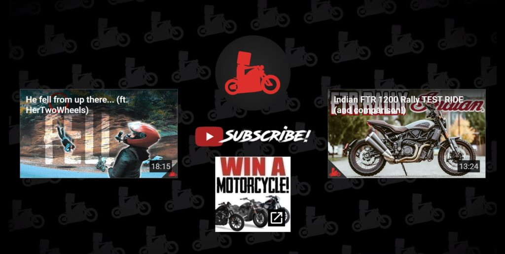 Here's a great example on how to promote other videos from your motovlog!