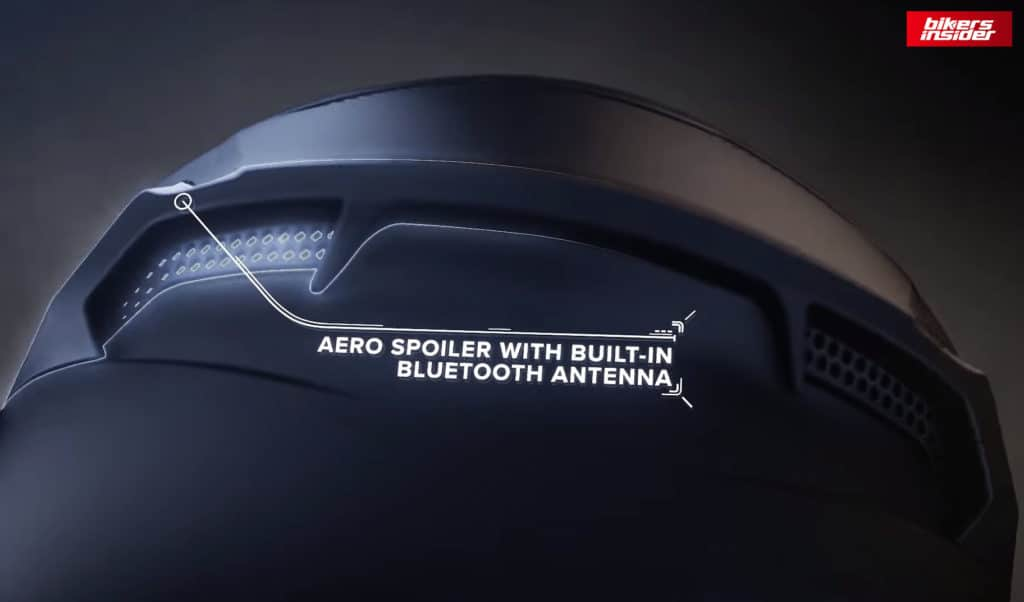 The rear spoiler vent with built-in Bluetooth antenna on the Atlas 3.0.