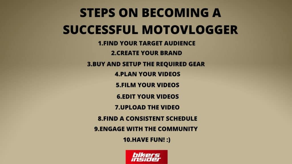 Steps On Becoming A Successful Motovlogger