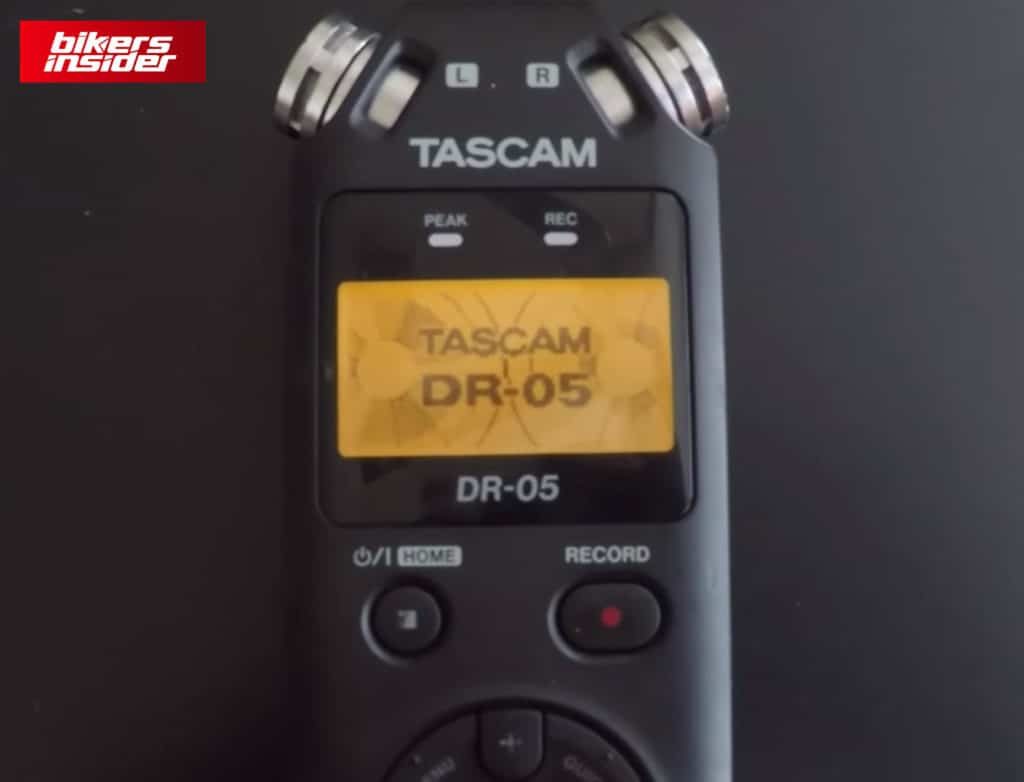 Tascam DR-05X is an epic external audio recording device for motovlogging.