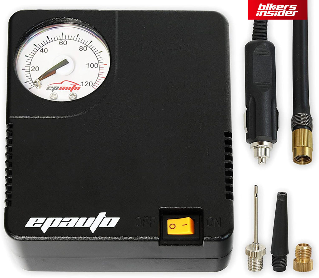 EPAuto Air Compressor is ideal for motorcycle tires.
