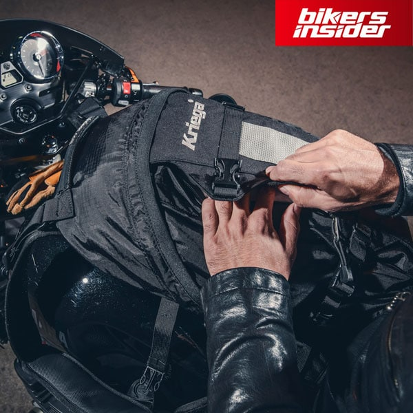 Kriega R25 is a motorcycle-specific backpack which will make your ride extra comfortable.