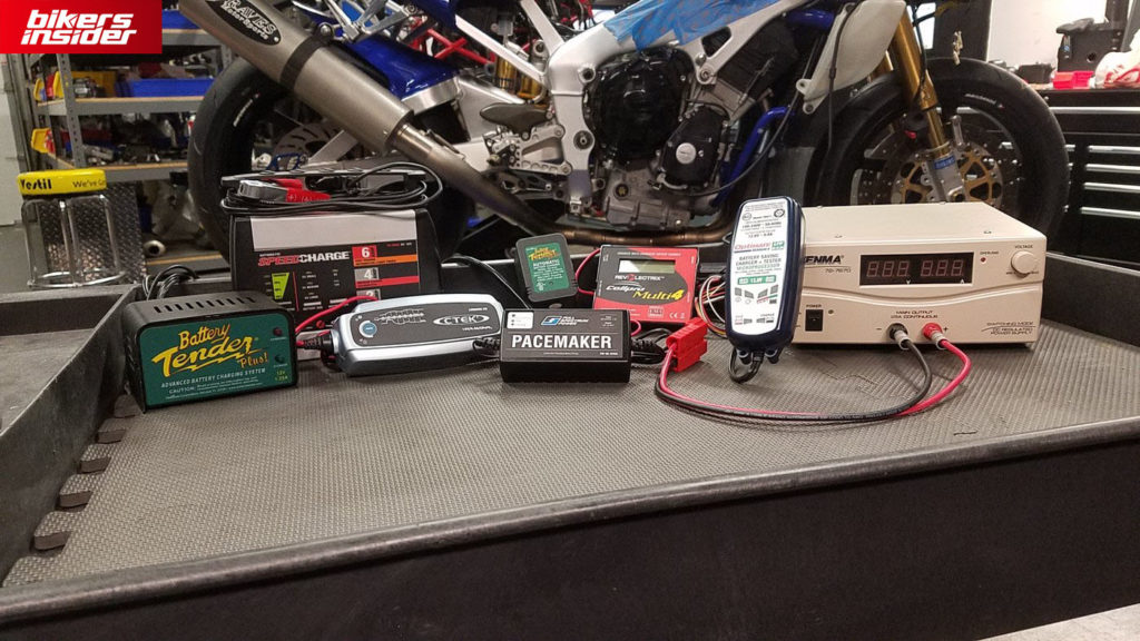 A motorcycle battery charger should be an essential accessory piece in your garage.