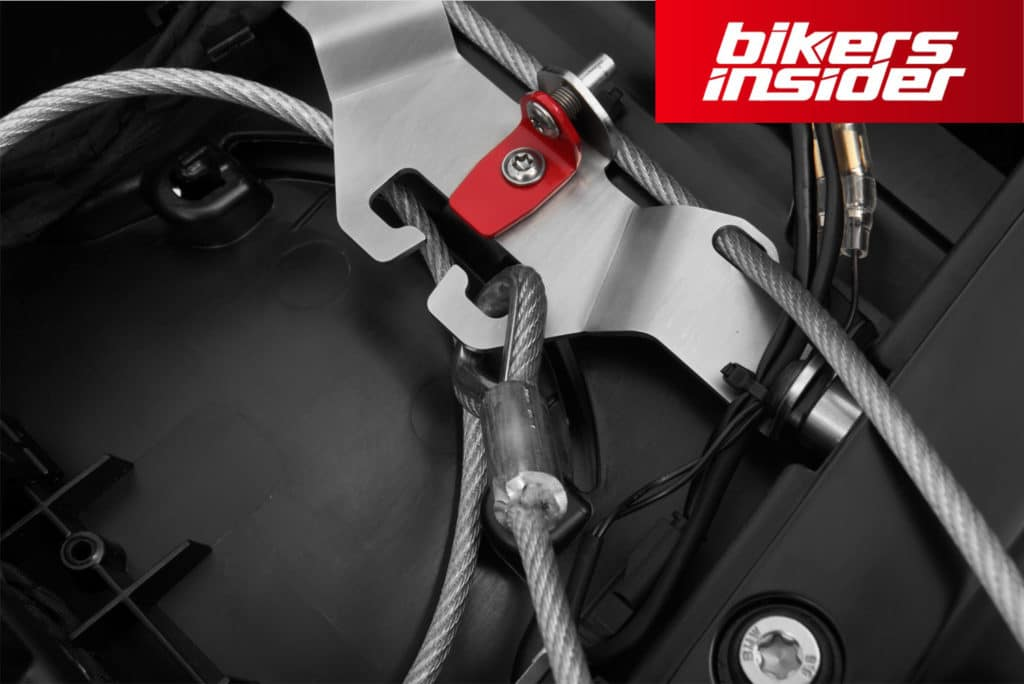 The best motorcycle helmet locks are made of steel and other heavy metal material due to their highest security and durability.