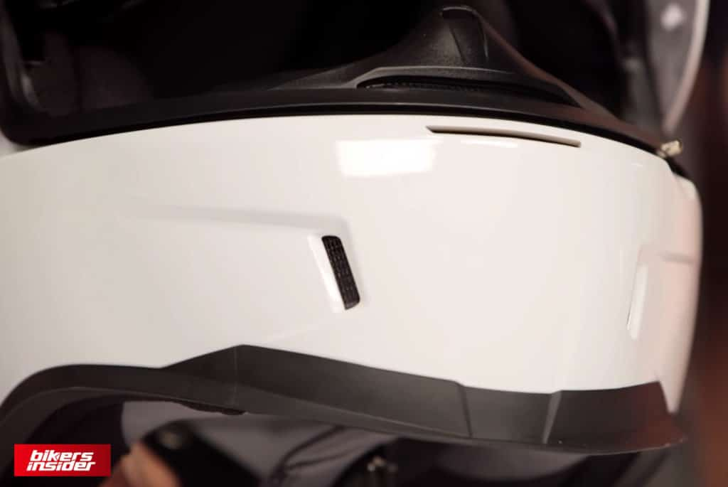 The three chin vents on the Icon Airform.