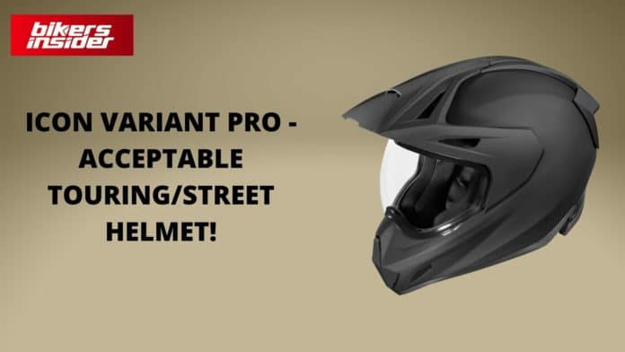 Icon Variant Pro Review - Acceptable Touring/Street Helmet!