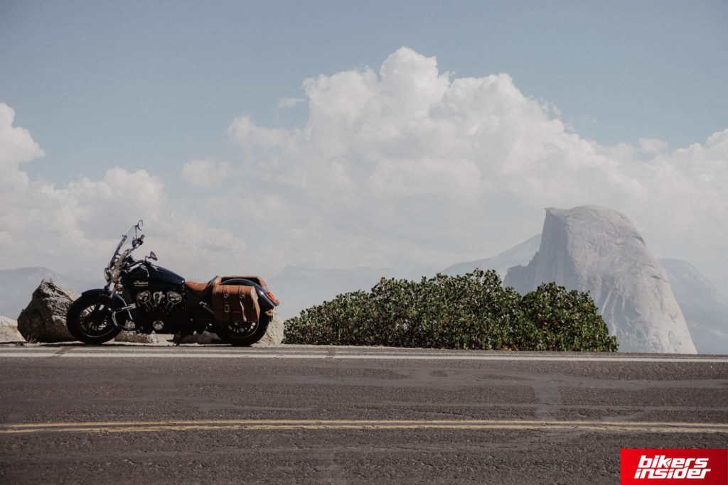 Indian Cruiser Motorcycle On The Road.