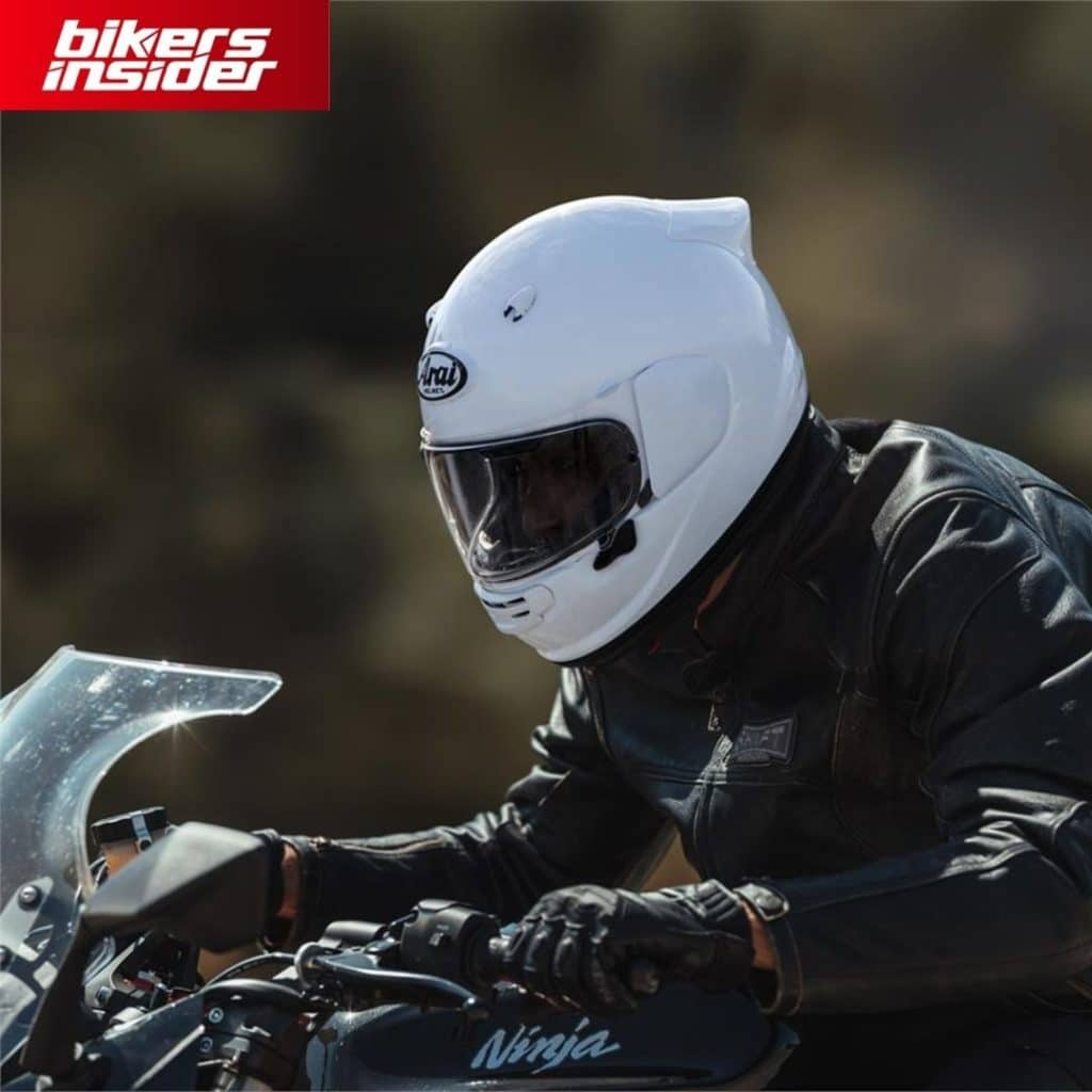 Arai Quantic is one of the best motorcycle helmets for the 2021 and 2022 seasons if you value safety the most.